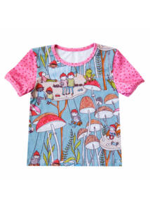 Erdei manó mintás kislány póló
