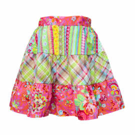 színes vékony pamutvászon szoknya kislányoknak